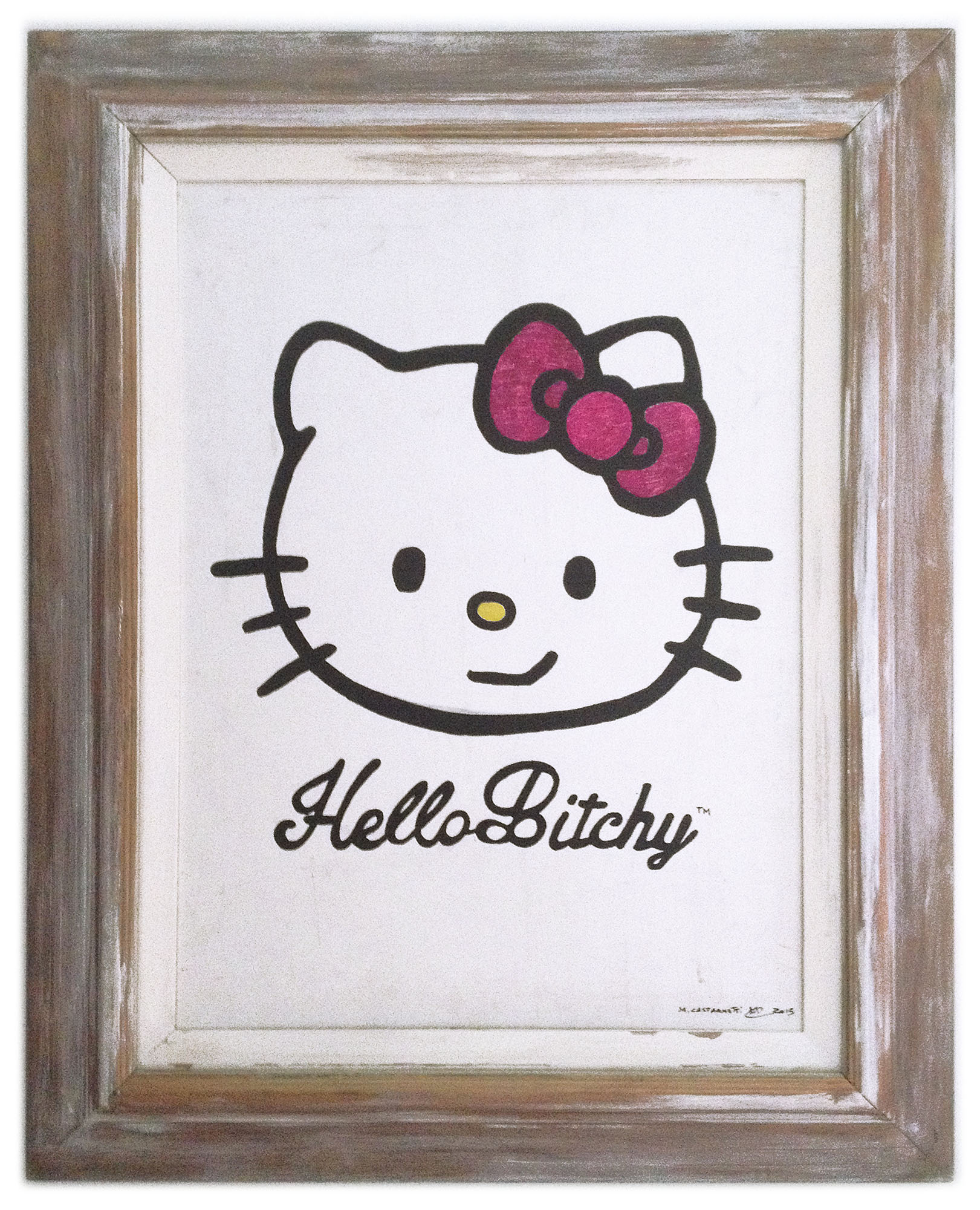 Hello Bitchy Painting framed